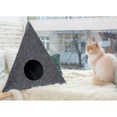 Домик для животных Digitalwool пирамида с подушкой Серый