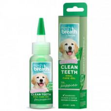 Гель для чистки зубов TropiClean Oral Care Gel Clean Teeth для щенков, 59 мл