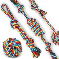 Игрушка веревка для собак Taotaopets 031108 Multi Color Ver.1