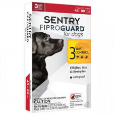 Капли Fiproguard от блох, клещей и вшей для собак 20-40 кг, 2,68 мл, 3 шт, цена за 1 шт