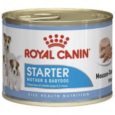 Влажный корм Royal Canin Starter Mousse для беременных собак и щенков, 195 г