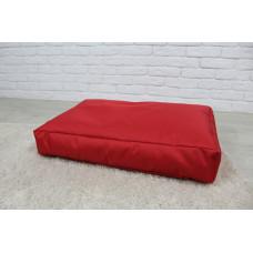 Бескаркасный лежак для собак Beans Bag из ткани Оксфорд стронг 90х60 см с чехлом Красный