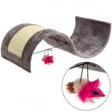 Когтеточка Flamingo Kitty Wave для котов с игрушкой волна 50.5х30.5х17.5 см