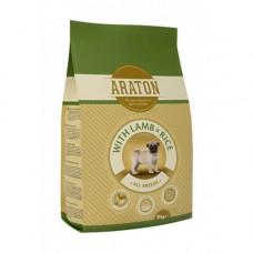 Сухой корм Araton Junior With Lamb & Rice для собак весом от 2 до 60 кг, 3кг