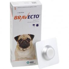 Жевательная таблетка Bravecto от блох и клещей для собак средних пород от 4,5 до 10 кг, 250 мг