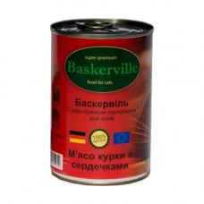Влажный корм Baskerville для котов, мясо курицы с сердечками, 400 г