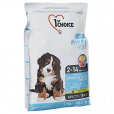 Сухой корм 1st Choice Puppy Medium&Large Chicken для щенков средних и крупных пород, с курицей, 15 кг