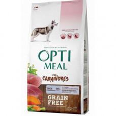 Беззерновой сухой корм Optimeal для взрослых собак всех пород, с уткой и овощами, 10 кг