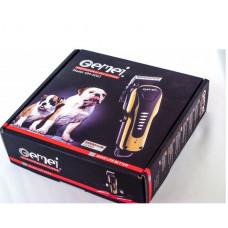 Беспроводная аккумуляторная машинка GEMEI PRO GM-6063 для стрижки шерсти животных