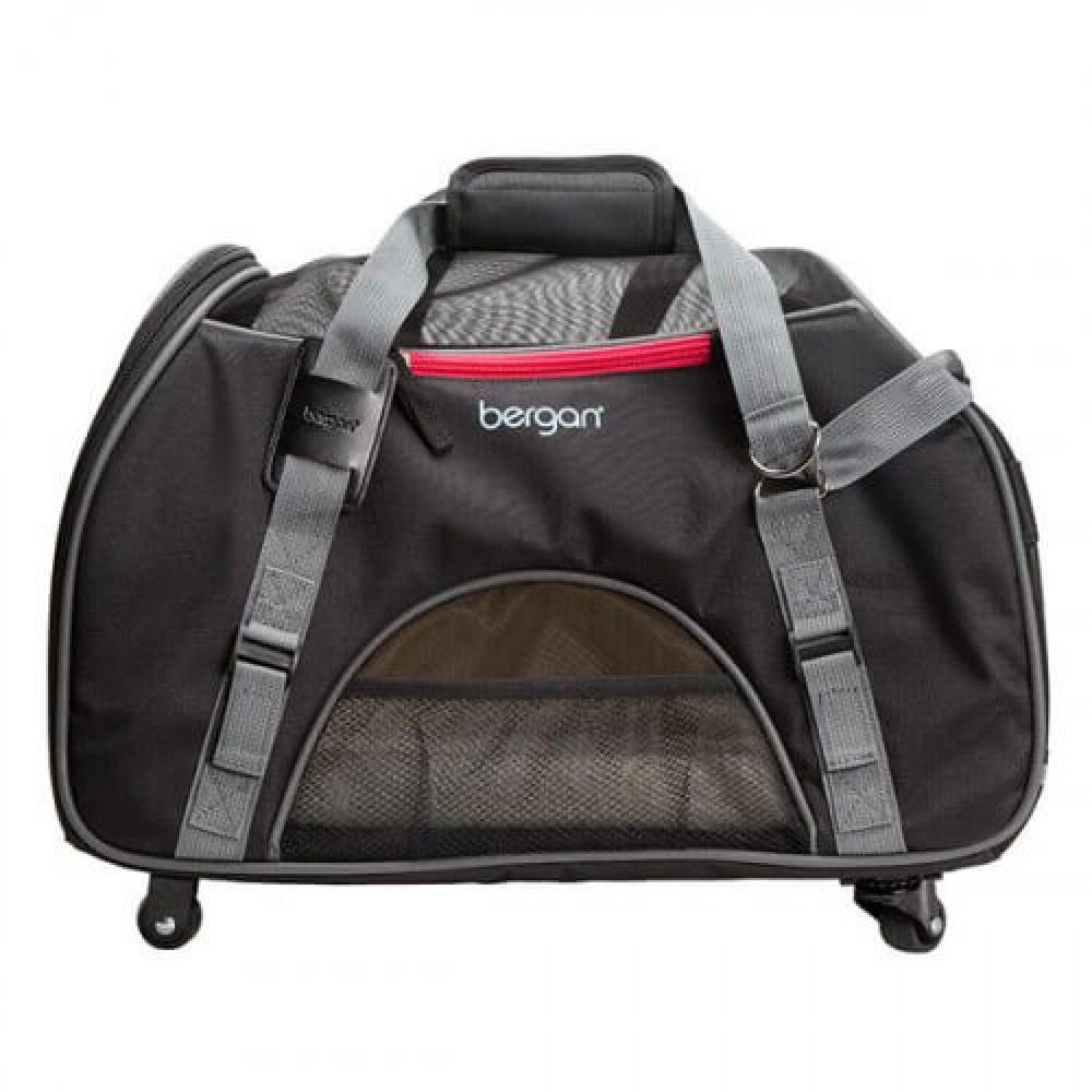 Сумка-переноска на колесах Bergan Wheeled Comfort Carrier для собак и кошек Серая 48×25×33 см