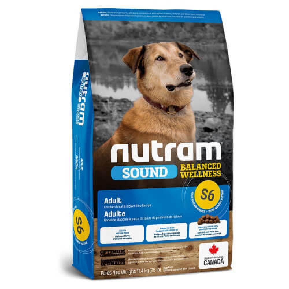 Сухой корм S6 Nutram Sound Balanced Wellness Adult для взрослых собак, с курицей и коричневым рисом, 2кг