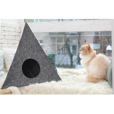 Домик для животных Digitalwool Пирамида без подушки 56 x 60 x 66 см Серый