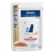 Влажный корм Royal Canin Renal при хронической почечной недостаточности у кошек, курица, 85 г