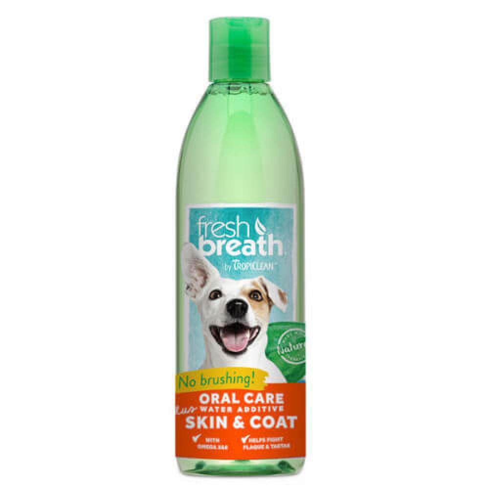 Добавка в воду Тропиклин с Омега 3 и 6 уход за полостью рта собак Tropiclean Fresh Breath Oral Care 473 мл