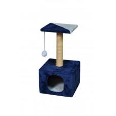 Домик-когтеточка (дряпка) Мур-Мяу КотэДж в джутовой веревке Сине-голубой
