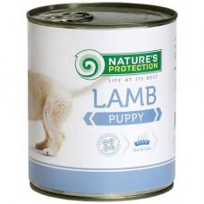 Консерва Natures Protection Puppy Lamb для щенков до 12 месяцев, 800гр