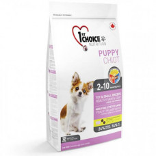 Сухой корм 1st Choice Puppy Toy&Small Lamb&Fish для щенков мини и малых пород, c ягнёнком и рыбой, 2.72кг