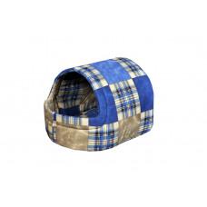 Домик-лежак (лежанка) для котов и собак Мур-Мяу Комфорт Синий