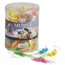 Игрушка Flamingo Plastic Shrimp для кошек, креветка латекс, 1.5х6 см