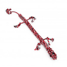 Игрушка Веревочная Ящерица Hoopet W032 для домашних животных Red + White + Black
