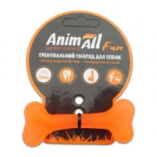 Игрушка AnimAll Fun кость 8 см Оранжевая