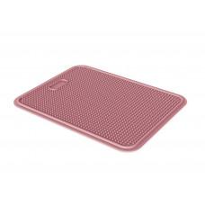 Пластиковый коврик Iago GeorPlast под туалет размер 45х35 см Розовый
