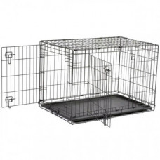 Клетка Savic Dog Cottage для собак, черная, 107 х 72 х 79 см