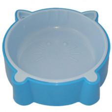 Пластиковая миска AnimAll для кошек S 200мл голубая