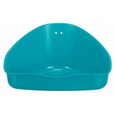 Угловой туалет Trixie для грызунов, пластик, 36х21х30см