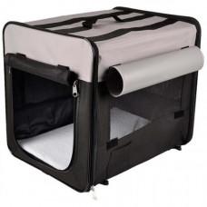 Сумка-переноска Flamingo Smart Top Plus палатка для собак Черно-серый, 94х56х71 см