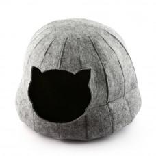 Домик для кошки Полусфера с подушкой Digitalwool 28 х 25 см Серый