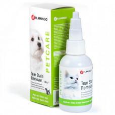Капли Flamingo Petcare Tear Stain Remover для удаления пятен от слез у собак и кошек, 50 мл
