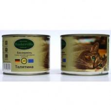 Влажный корм Baskerville для котов, телятина, 200 г