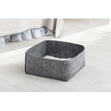 Домик для животных без подушки Digitalwool Корзина на кнопках 20 х 40 х 40 см Серый