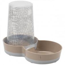 Автокормушка-поилка Moderna Tasty WildLife 2в1 для кошек и собак, пластик, светло-коричневая, 1.5 л