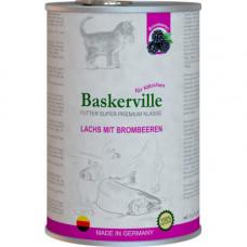 Влажный корм Baskerville Super Premium Lachs Mit Brombeeren для котов, лосось с ежевикой, 400 г