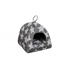 Домик-лежак (лежанка) для котов и собак Мур-Мяу Юрта-1 Серый
