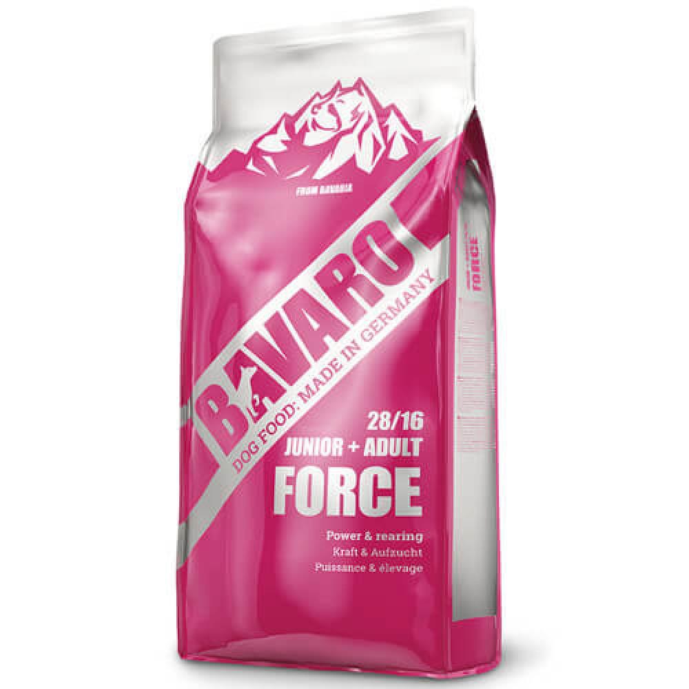 Сухой корм Bavaro Junior+Adult Force 28/16 для щенков и взрослых собак с высокой потребностью в энергии, 18 кг