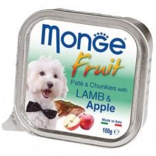 Влажный корм MONGE DOG FRUIT с ягненком и яблоком 0,1 кг