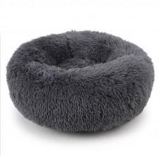 Лежак пуфик для котов и собак круглый Taotaopets 552201 XL Темно-серый