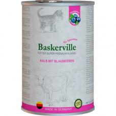 Влажный корм Baskerville Super Premium Kalb Mit Brlaubeeren для котов, телятина с черникой, 400 г
