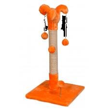 Когтеточка (дряпка) Мур-Мяу Арлекин в джутовой веревке Оранжевая