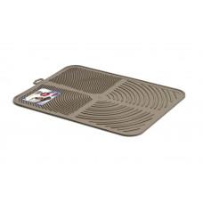 Пластиковый коврик GeorPlast Alladin под туалет 41.5х32см Коричневый