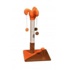 Когтеточка (дряпка) Мур-Мяу Арлекин Оранжево-коричневая