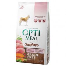 Беззерновой сухой корм Optimeal для взрослых собак всех пород, с индейкой и овощами, 1,5 кг