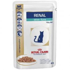 Влажный корм Royal Canin Renal при хронической почечной недостаточности у кошек, тунец, 85 г