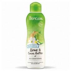Кондиционер TropiClean Lime & Cocoa для увлажненной кожи и снижение линьки для собак и котов, 592мл