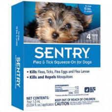 Капли Sentry от блох, клещей и комаров, для собак весом до 7 кг, 1 мл, цена за пипетку