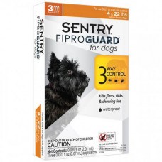 Капли Fiproguard от блох, клещей и вшей для собак до 10 кг, 0,67 мл, 3 шт, цена за 1 шт