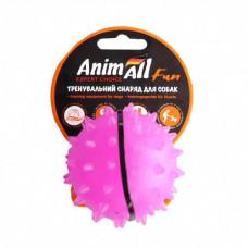 Игрушка AnimAll Fun мяч каштан для собак, 7 см, фиолетовая